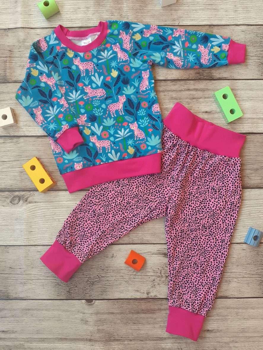 T-shirt & pants – Leopardi fucsia